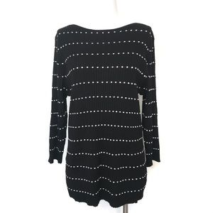 NWT Lane Bryant Black & White Ribbed Sweater 18